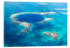 Akrylglastavla  Great Blue Hole, Belize - Matteo Colombo