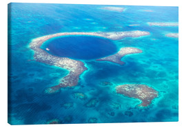 Canvastavla  Great Blue Hole, Belize - Matteo Colombo