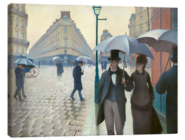 Canvastavla  Paris Street, Rainy Day - Gustave Caillebotte