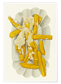 Premiumposter  French fries with mayonnaise - Dieter Ziegenfeuter