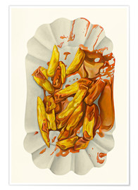 Premiumposter  French fries with ketchup - Dieter Ziegenfeuter