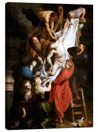 Canvastavla  Descent from the Cross - Peter Paul Rubens