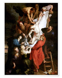 Premiumposter  Descent from the Cross - Peter Paul Rubens