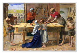Premiumposter  Christ in the House of His Parents - Sir John Everett Millais