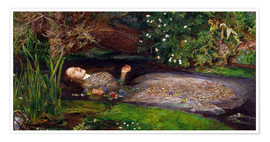 Premiumposter  Ophelia - Sir John Everett Millais