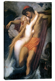 Canvastavla  The Fisherman and the Syren - Frederic Leighton