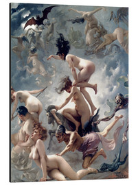 Aluminiumtavla  Witches going to their Sabbath - Luis Ricardo Falero
