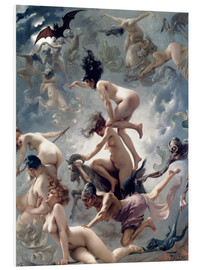 PVC-tavla  Witches going to their Sabbath - Luis Ricardo Falero