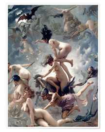 Premiumposter  Witches going to their Sabbath - Luis Ricardo Falero