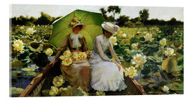 Akrylglastavla  Lotus Lilies - Charles Courtney Curran