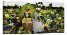 Canvastavla  Lotus Lilies - Charles Courtney Curran