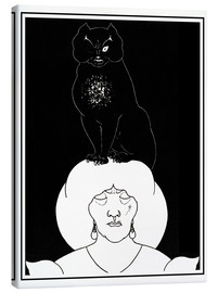 Canvastavla  The black cat - Aubrey Vincent Beardsley