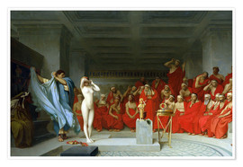 Premiumposter  Phryne before the Areopagus - Jean Leon Gerome
