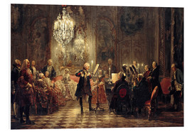 PVC-tavla  Frederick the Great Playing the Flute at Sanssouci - Adolph von Menzel