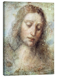Canvastavla  head of christ - Leonardo da Vinci