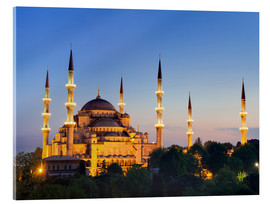 Akrylglastavla  Blue Mosque at twilight - Circumnavigation