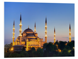 PVC-tavla  Blue Mosque at twilight - Circumnavigation