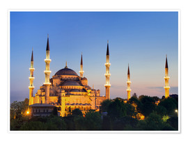 Premiumposter  Blue Mosque at twilight - Circumnavigation