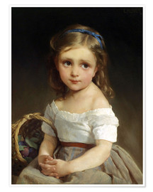 Premiumposter  Girl with plums Basket - Emile Munier