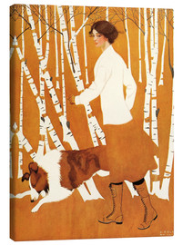 Canvastavla  Birches - Clarence Coles Phillips