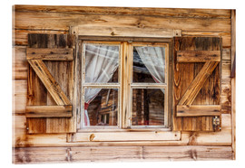 Akrylglastavla  Window of alps cabin in South Tyrol (Italy) - Christian Müringer
