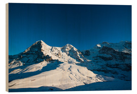 Trätavla  Panoramic view from Lauberhorn with Eiger Mönch and Jungfrau mountain peak - Peter Wey