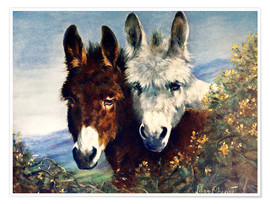 Premiumposter  The Wise Ones (Donkeys) - Lilian Cheviot