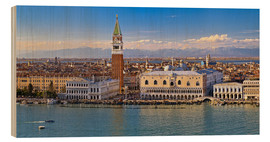 Trätavla  Venice view to the Alps - FineArt Panorama