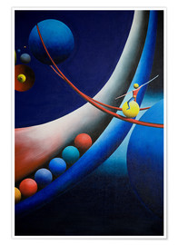 Premiumposter Tightrope walk among planets