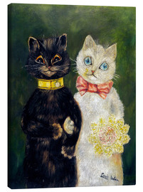 Canvastavla  Cats Wedding - Louis Wain