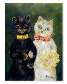 Premiumposter  Cats Wedding - Louis Wain