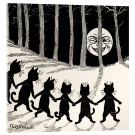 Akrylglastavla  Cats dancing at full moon - Louis Wain