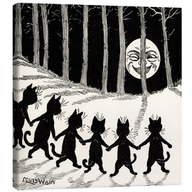 Canvastavla  Cats at full moon - Louis Wain