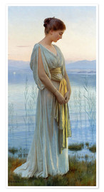Premiumposter  Evening by the Lake - Max Nonnenbruch