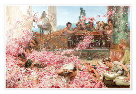 Premiumposter  The Roses of Heliogabalus - Lawrence Alma-Tadema