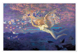 Premiumposter  Wings of the Morning - Edward Robert Hughes
