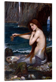 Akrylglastavla  A mermaid - John William Waterhouse