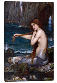 Canvastavla  A mermaid - John William Waterhouse