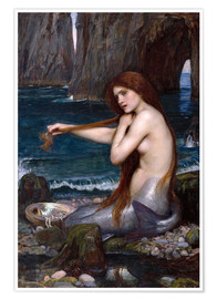 Poster  A mermaid - John William Waterhouse