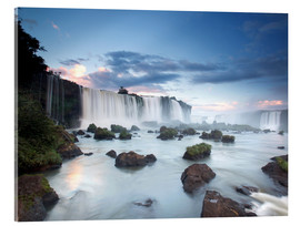 Akrylglastavla  Sunrise at the Iguazu Falls - Alex Saberi