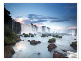 Premiumposter  Sunrise at the Iguazu Falls - Alex Saberi