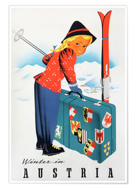 Premiumposter  Winter in Austria - Travel Collection