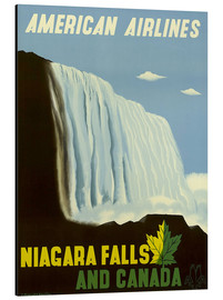 Aluminiumtavla  American Airlines Niagara Falls and Canada - Travel Collection