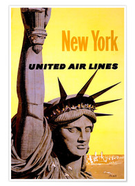 Premiumposter  New York United Air Lines - Travel Collection