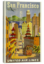 Canvastavla  United Airlines, San Francisco - Travel Collection