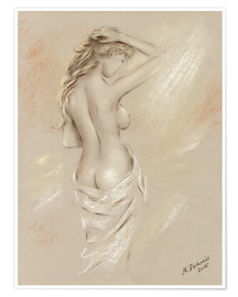 Premiumposter Sexy curves - female nude