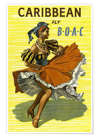 Premiumposter  Caribbean Fly BOAC - Travel Collection