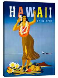 Canvastavla  Hawaii by Clipper vintage travel - Travel Collection