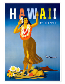 Premiumposter  Hawaii by Clipper vintage travel - Travel Collection