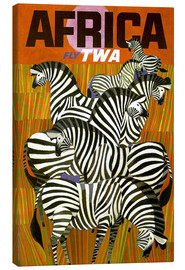 Canvastavla  Africa Fly TWA - Travel Collection